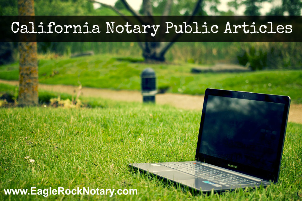 California Notary Articles