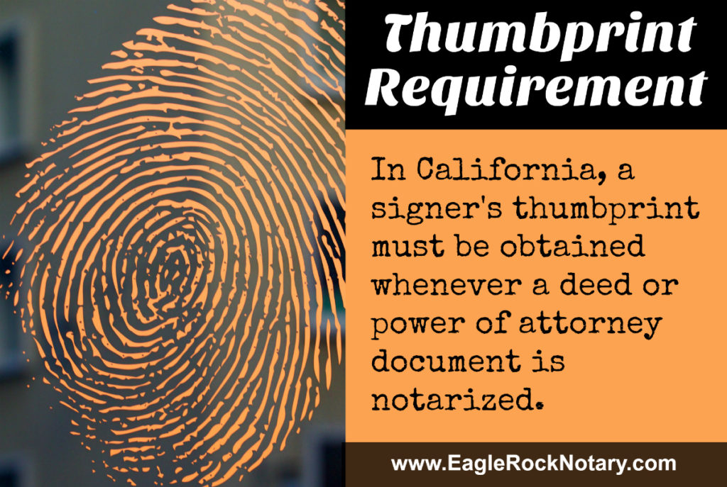 Notary Journal Thumbprint Requirement