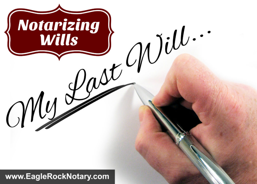 Notarizing Wills
