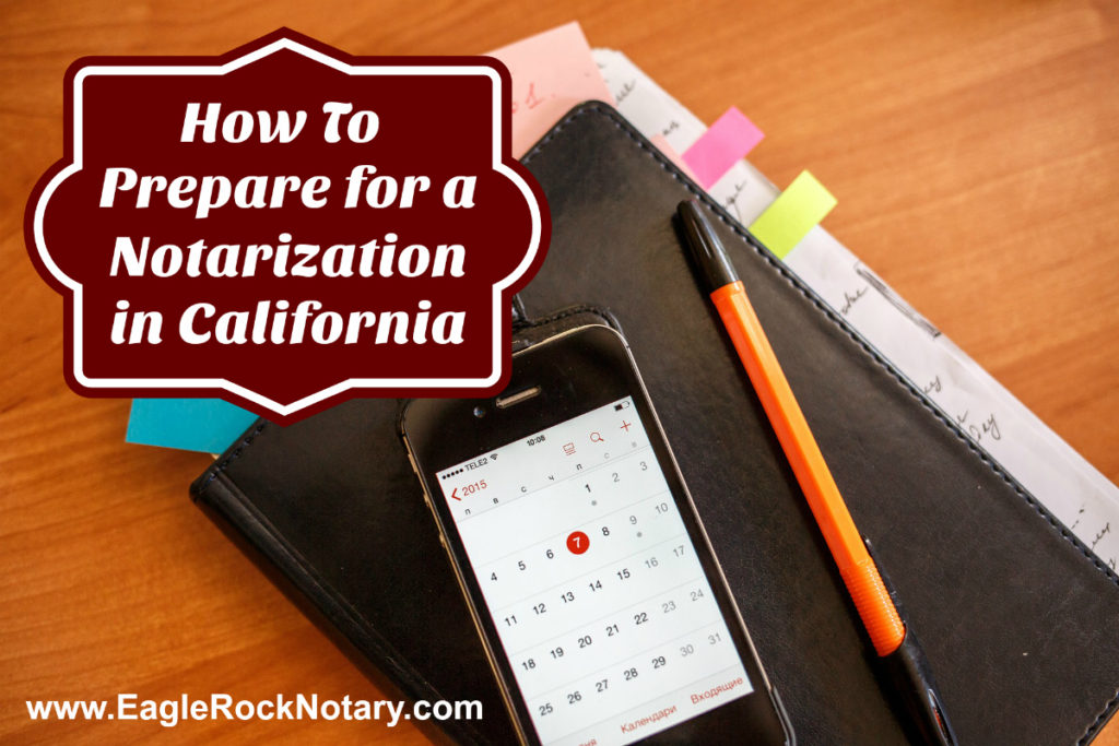 Prepare for Notarization