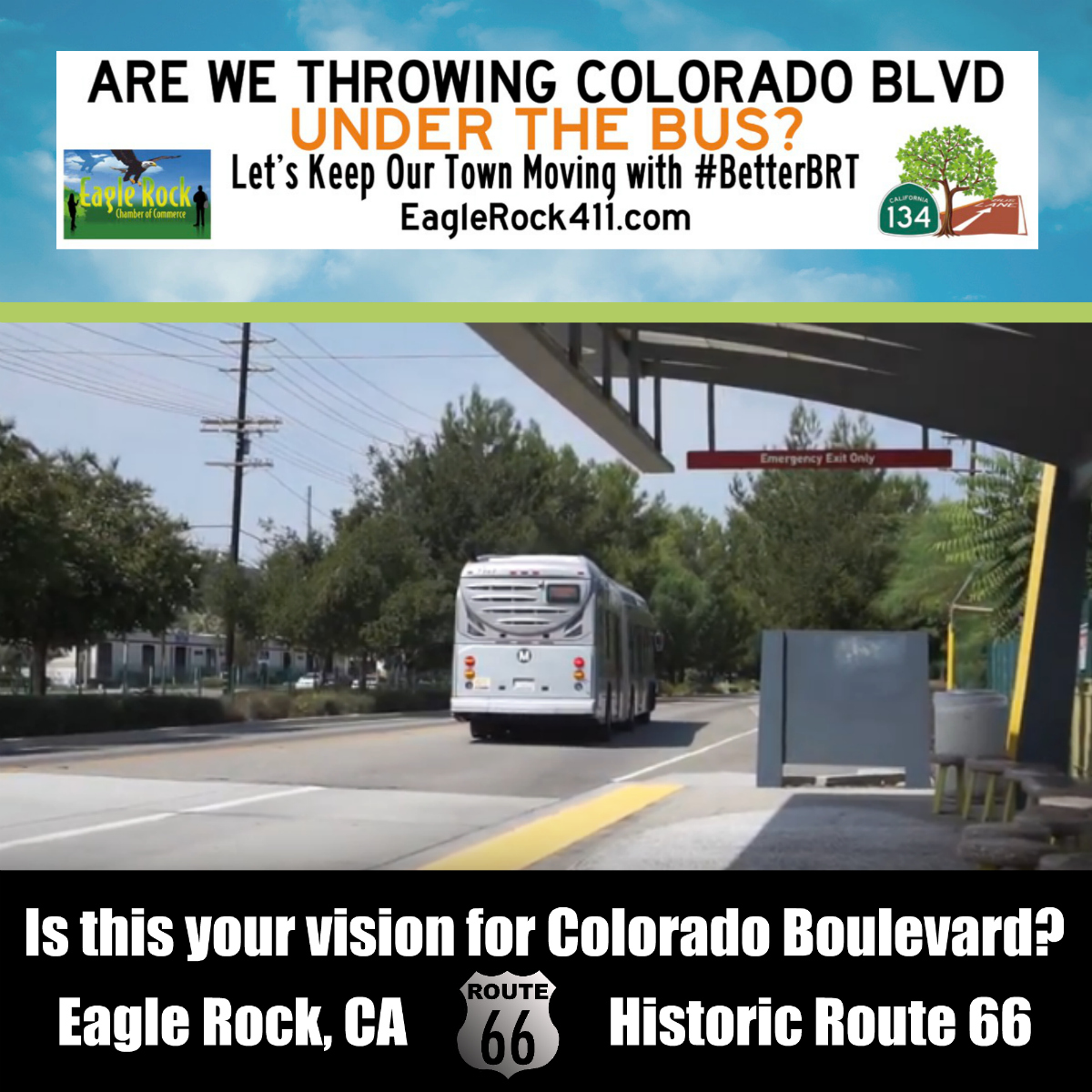 Eagle Rock BRT Bus Route 66